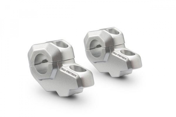 Sw-Motech Bar back for Ø 22 mm handlebar High 30mm Back 21mm Aluminum Silver