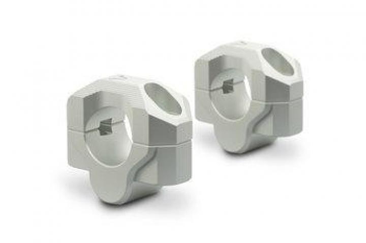 Sw-Motech Bar riser Ø 28 mm handlebar Height 20 mm Aluminum Silver