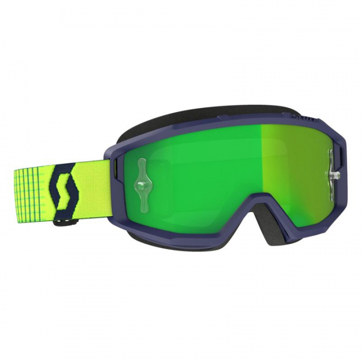 Scott Goggles Primal Blue/Yellow Green Chrome Works