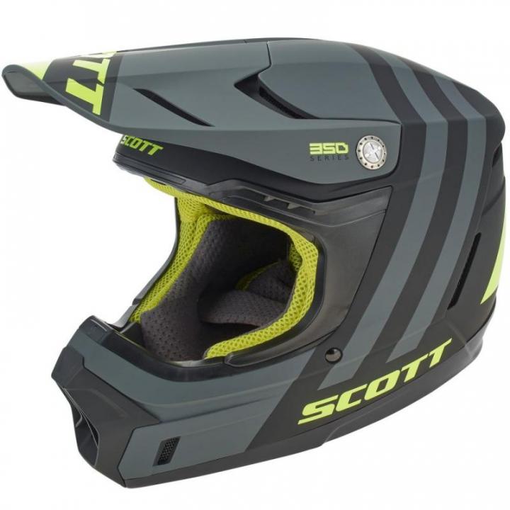 Scott 350 Evo Plus Dash Black/Fluo Yellow
