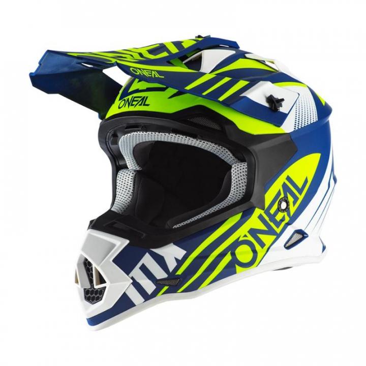 Oneal 2SRS Helmet Spyde 2.0 Blue/White/Neon