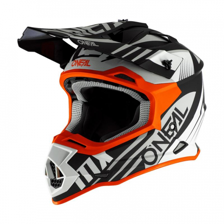Oneal 2SRS Helmet Spyde 2.0 Black/White/Orange