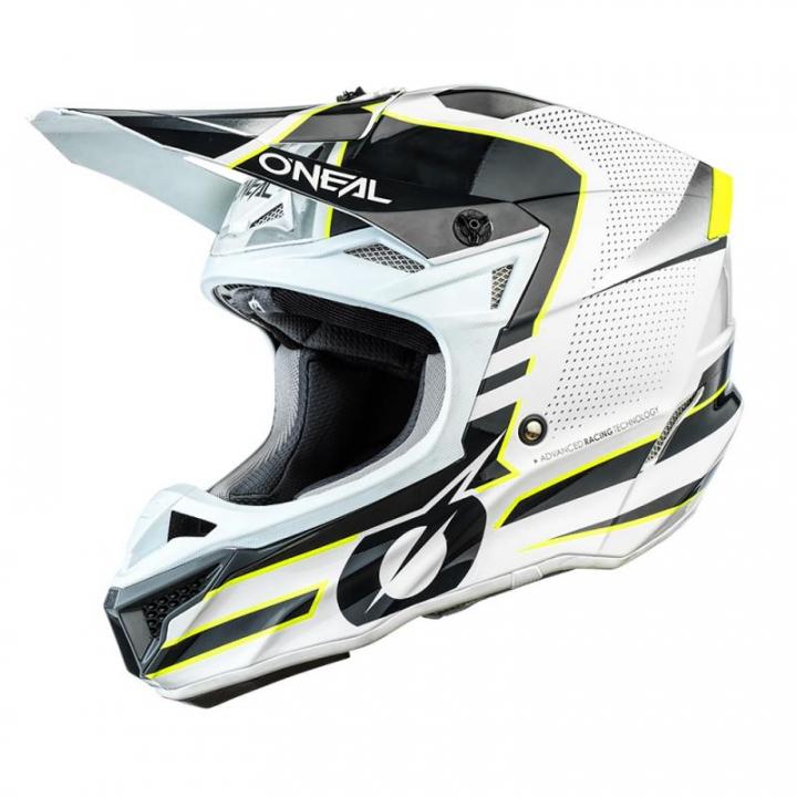 Oneal 5SRS Polyacrylite Helmet Sleek White/Grey