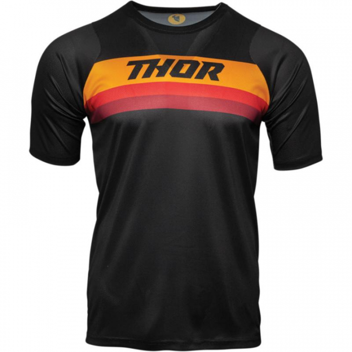 Thor Jersey Assist SS Black/Orange