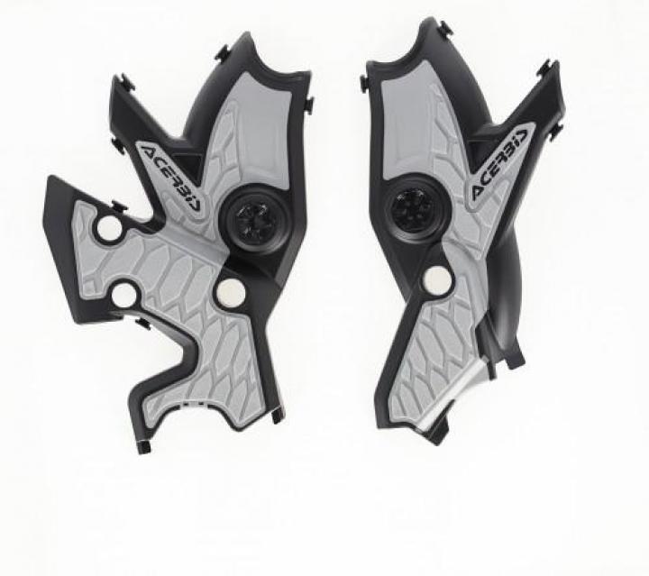 Acerbis X-Grip Frame Protector Yamaha T700 Tenere - Black/Silver