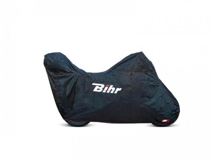 BIHR Capa protecção de moto p/ Top case XL Preto